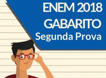 Enem 2018 - Gabarito - Segundo dia