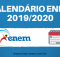 Calendário ENEM 2019/2020