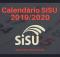Calendário SISU 2019 2020