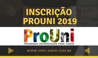 Inscrição Prouni 2019