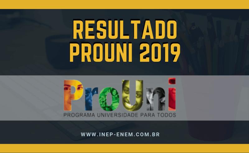 Resultado Prouni 2019