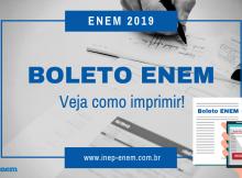 Boleto Enem 2019