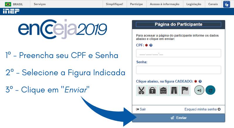 Como acessar a página do participante encceja