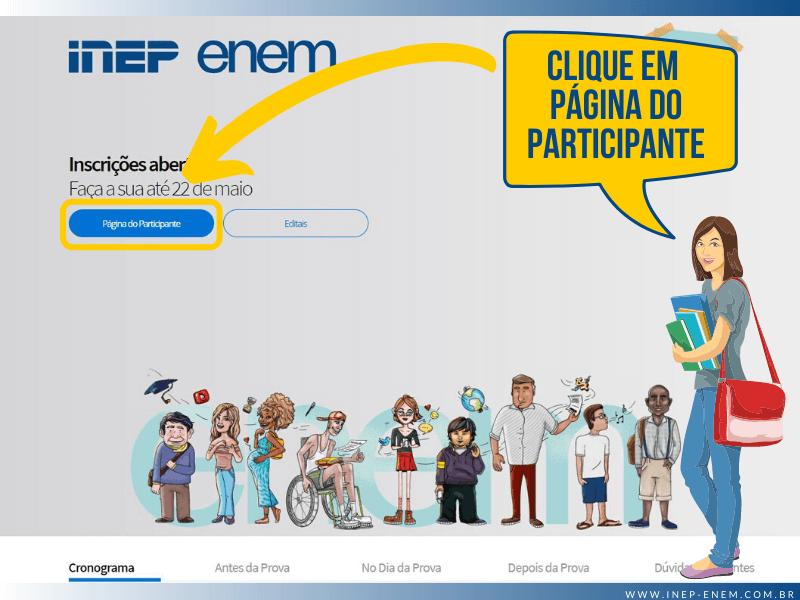 Inscrição ENEM (Inep ENEM) - Passo 1