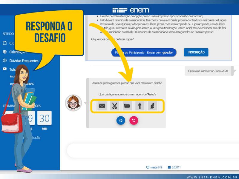 Inscrição ENEM (Inep ENEM) - Passo 3