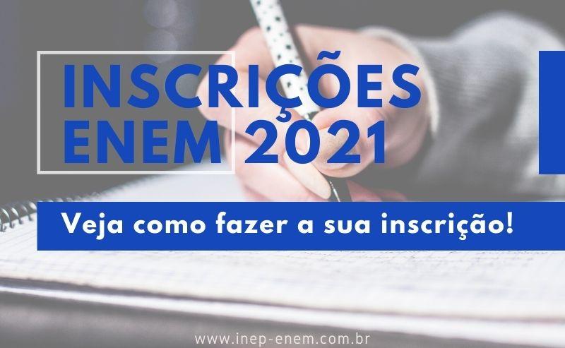 Inscrição enem 2021