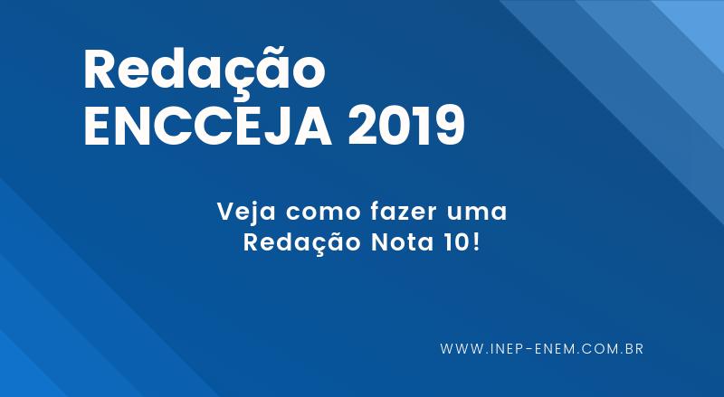 Redação ENCCEJA 2019