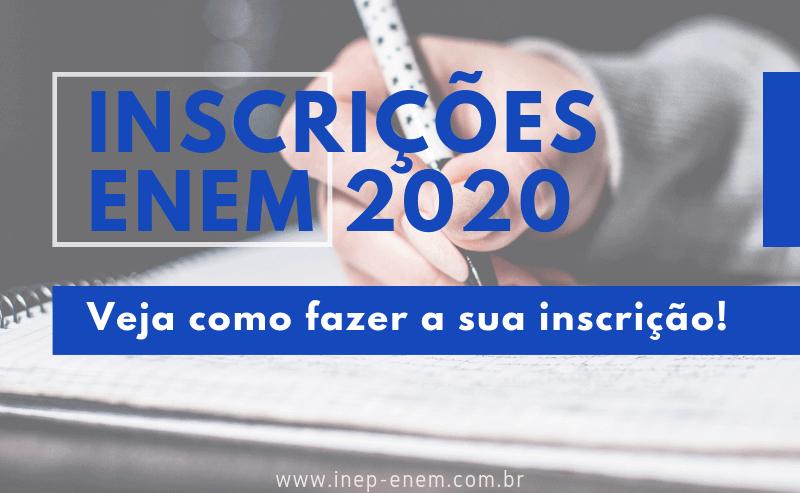 Inscrição enem 2020