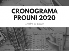 Cronograma PROUNI 2020