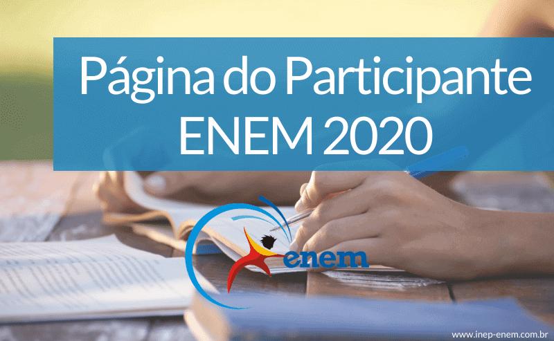 página do participante enem 2020